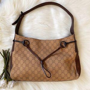 Gucci Horsebit GG Monogram Hobo Bag